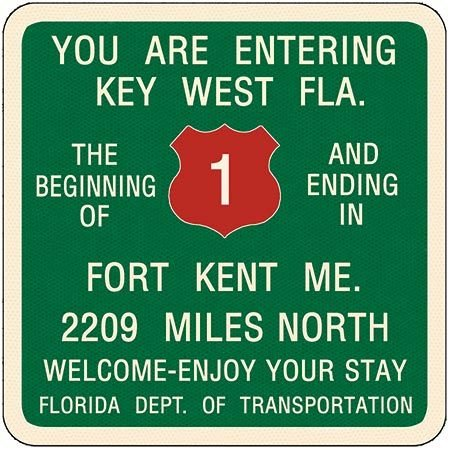 YOU ARE ENTERING KEY WEST * 8'' x 9'' 10480