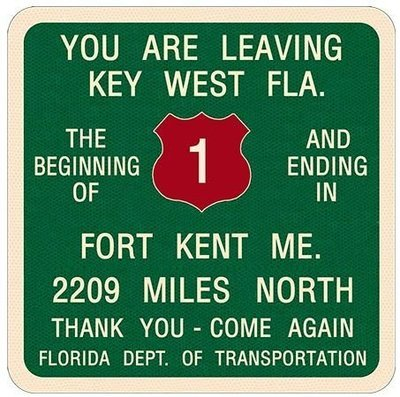 YOU ARE LEAVING KEY WEST * 8'' x 9''
