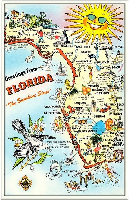 GREETINGS FROM SUNSHINE STATE  * 6'' x 11'' 10494