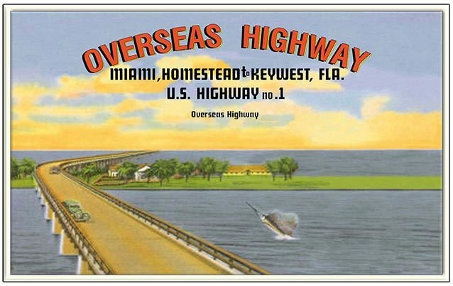 OVERSEAS HWY FROM MIAMI * 6'' x 11'' 10503