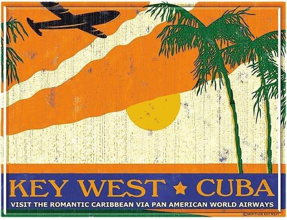 PA AM KEY WEST TO CUBA * 8'' x 11'' 10504