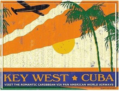 PA AM KEY WEST TO CUBA * 8'' x 11''