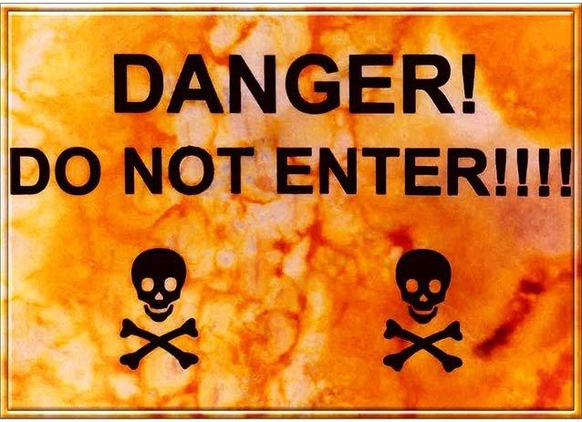 DANGER DO NOT ENTER * 7'' x 11''