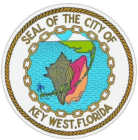 SEAL OF CITY KEY WEST * 8'' x 8''