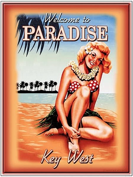 WELCOME TO PARADISE GIRL * 8'' x 11''
