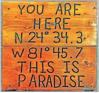 YOU ARE HERE PARADISE * 8'' x 8''