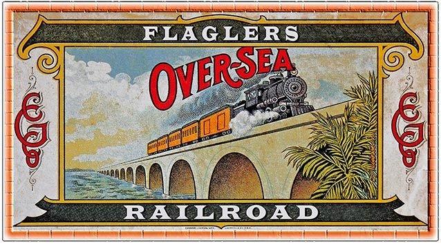 FLAGLER'S OVERSEAS RAILROAD * 5'' x 11'' 10579