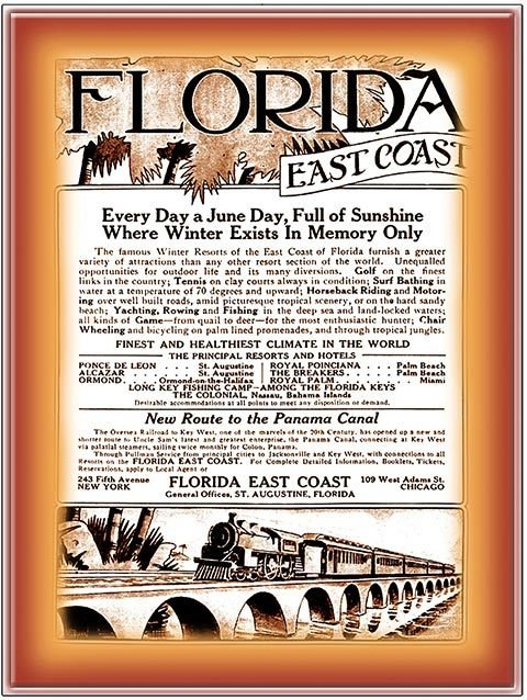 FLORIDA EAST COAST ALWAYS A JUNE DAY * 8'' x 11'' 10582