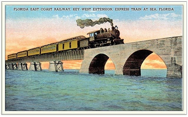 TRAIN CROSSING BRIDGE * 6'' x 11'' 10583
