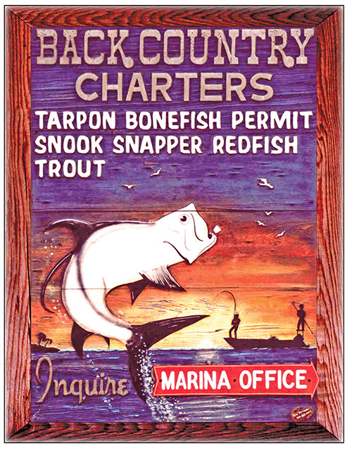 BACKCOUNTRY CHARTERS SUNSET * 8'' x 11''