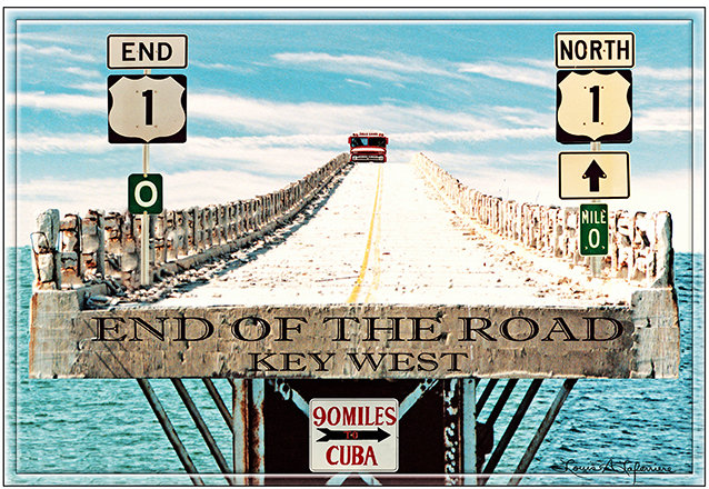 END OF THE ROAD BRIDGE * 7'' x 11'' 10614