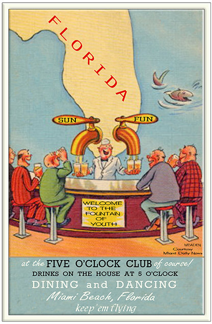 FIVE O'CLOCK CLUB * 6'' x 11'' 10618