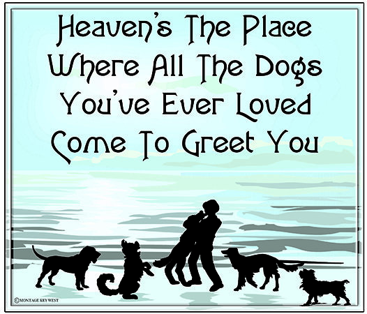 HEAVEN'S THE PLACE WHERE DOG'S * 8'' x 10'' 10622