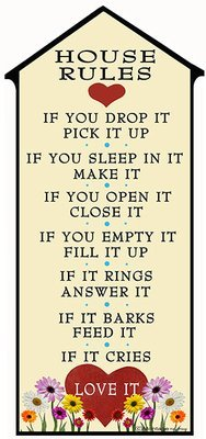 HOUSE RULES * 5'' x 11''