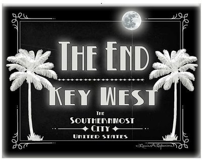 THE END KEY WEST B&W * 8'' x 11''1
