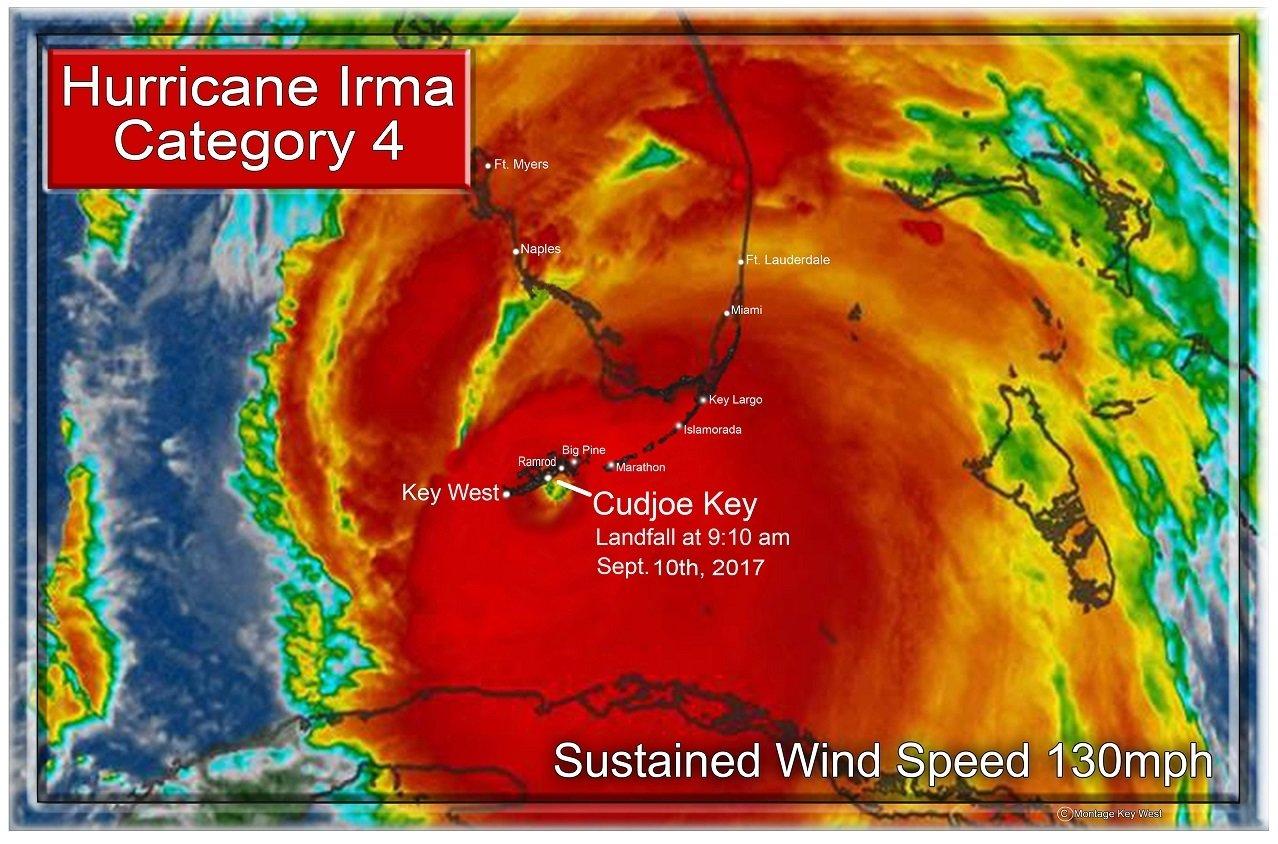 """Hurricane Irma 7"""" x 11"""" 10664"""