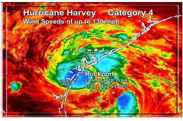 "Hurricane Harvey Landfall 7"" x 11"" 10666"