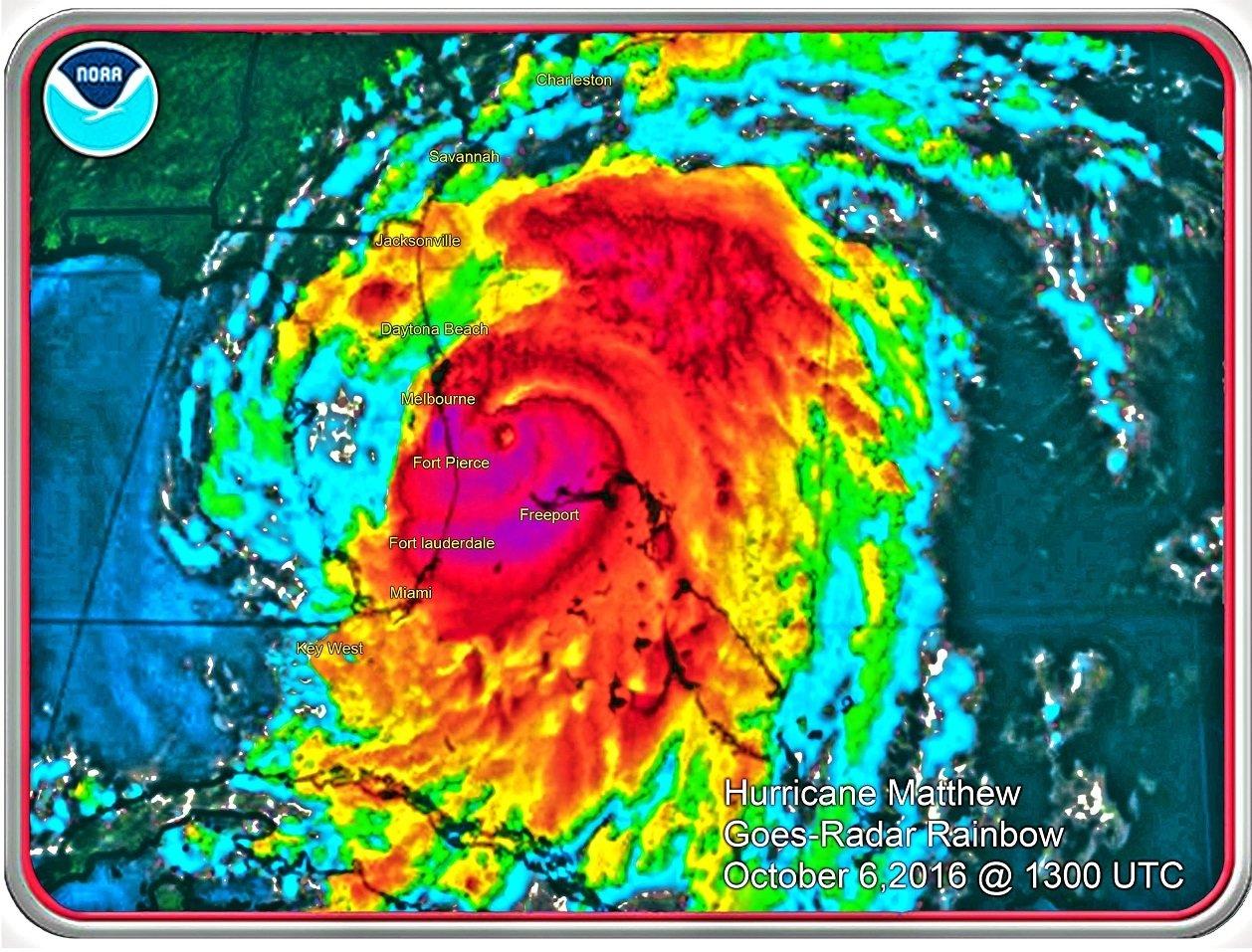 """Hurricane Matthew 8"""" x 11"""" 10667"""