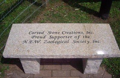 New Granite Garden Bench