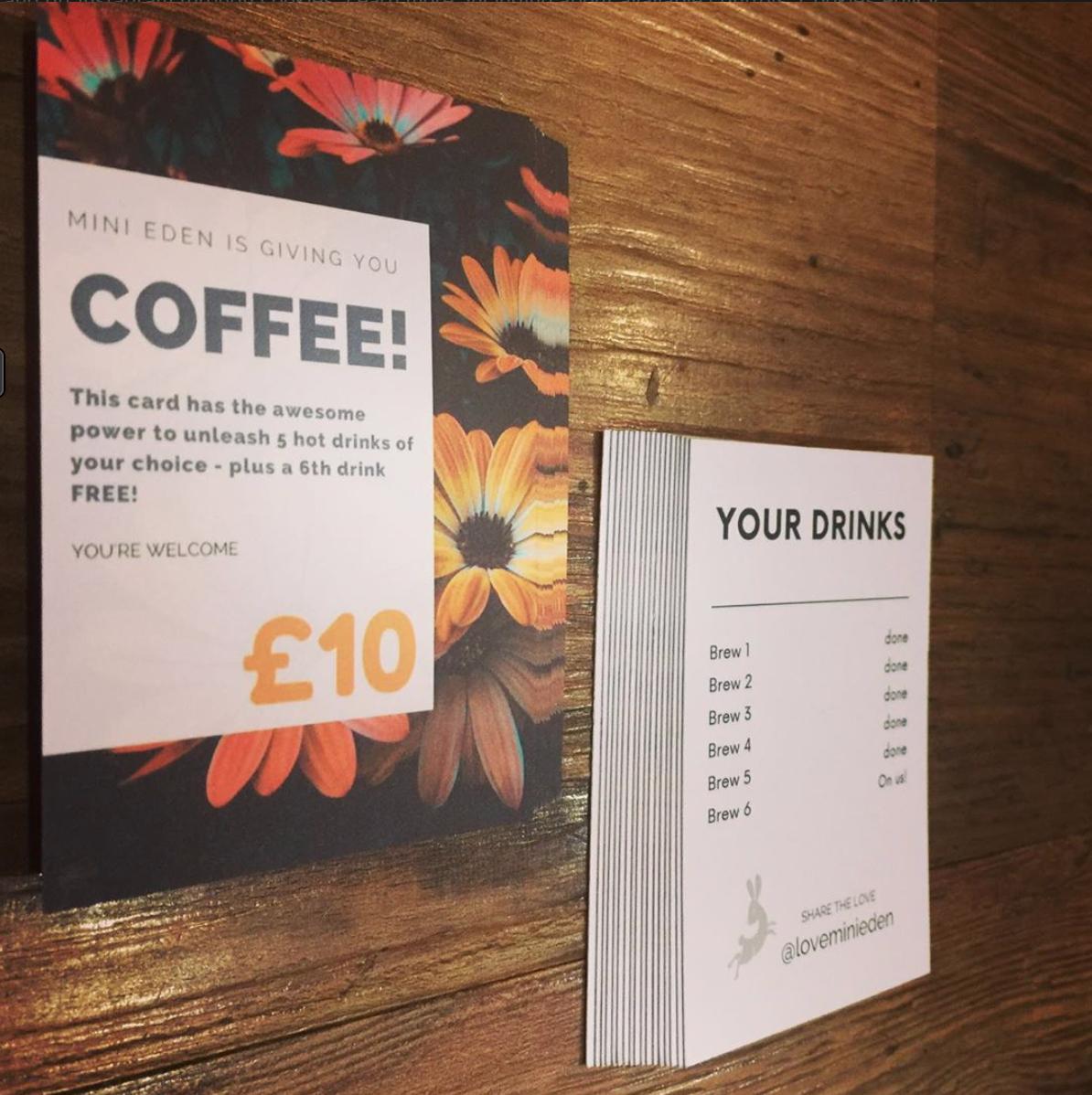 Coffee Gift Card coffee