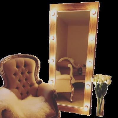 Rustic Recycled Wood LED Vanity Mirror