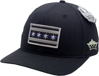 Chicago Flag Blue Line Hat Adjustable Strap Twill