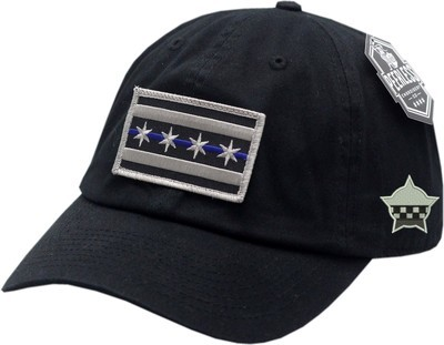 Chicago Flag Blue Line Hat Slouch Buckle Back