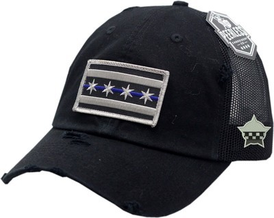 Chicago Flag Blue Line Vintage Trucker Mesh Snapback