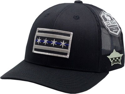 Chicago Flag Blue Line Trucker Mesh Snapback Black/Black