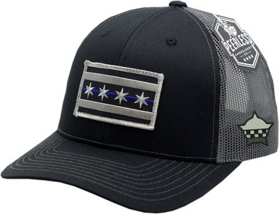 Chicago Flag Blue Line Trucker Mesh Snapback Charcoal/Black