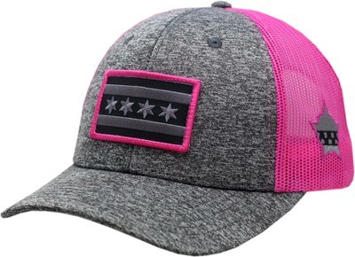 Chicago Flag Snapback Subdued Patch Charcoal/Pink 8964