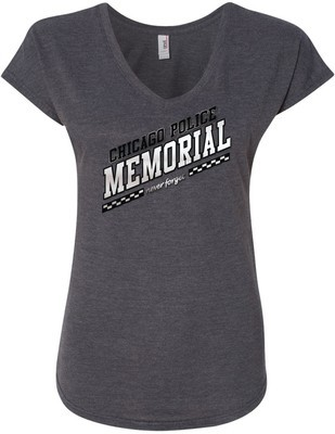 CPD Memorial Women's V-Neck Slanted Logo Grey
