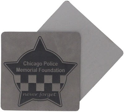 CPD Memorial Coaster 4 Pack Leatherette Grey