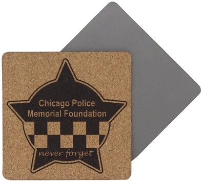 CPD Memorial Coaster 4 Pack Leatherette Cork