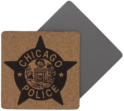 CPD Star Coaster 4 Pack Leatherette Cork