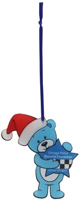 CPD Memorial Acrylic Ornament Blue Bear