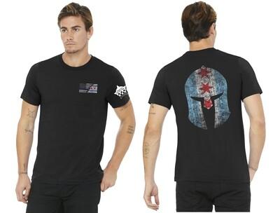 Chicago Blue Line Flag Spartan T-Shirt