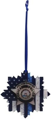 Blue Line Flag CPD Star Acrylic Ornament