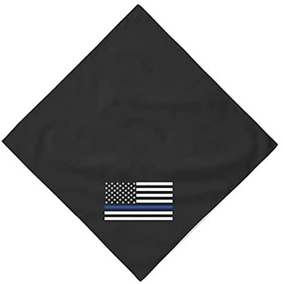 American Flag Blue Line Bandana
