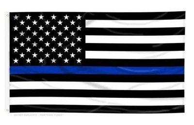 3ft X 5ft Heavy Duty Blue Line American Flag