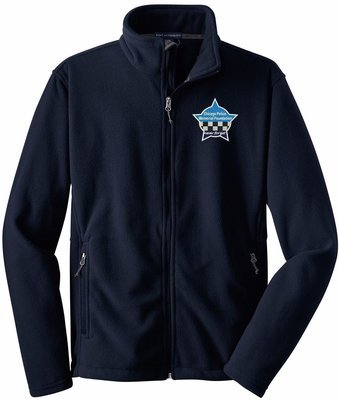CPD Memorial Full Zip Fleece Jacket W/Embroidered Star Logo Navy Blue F217