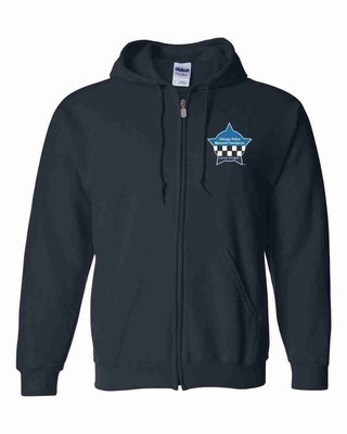CPD Memorial Zip up Hooded Sweatshirt with Embroidered Star Blue 18600
