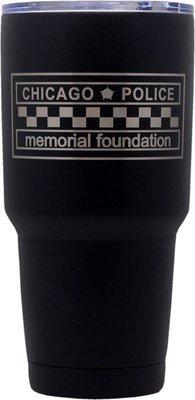 CPD Memorial Tumbler Stainless Steel Black Coated 30oz.
