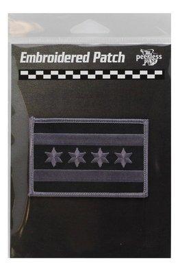 Chicago Flag Black & Grey Patch