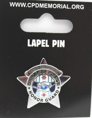 Chicago Police Honor Guard Star Lapel Pin