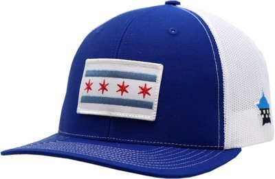Chicago Flag Snapback Trucker Mesh Royal/White