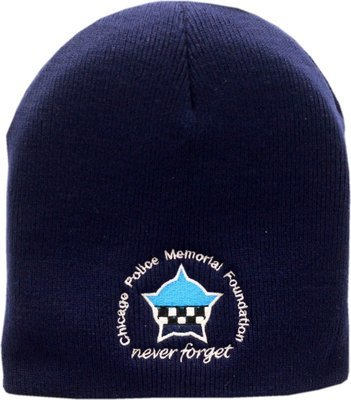 CPD Memorial Foundation Skull Knit Hat Navy