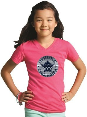 CPD Memorial Girls' V-Neck Fine Jersey T-Shirt