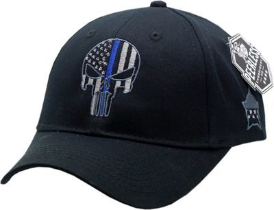 Punisher Blue Line Youth Adjustable Hat