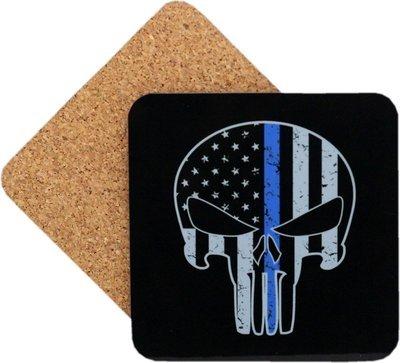 Punisher Blue Line Coaster Set Of 4
